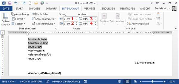 Briefe Schreiben Tablet : Computertraining you eu word